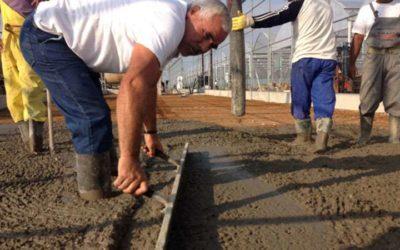 Κατασκευή βιομηχανικού δαπέδου 6.000 τ.μ. στο Εράσμιο Ξάνθης