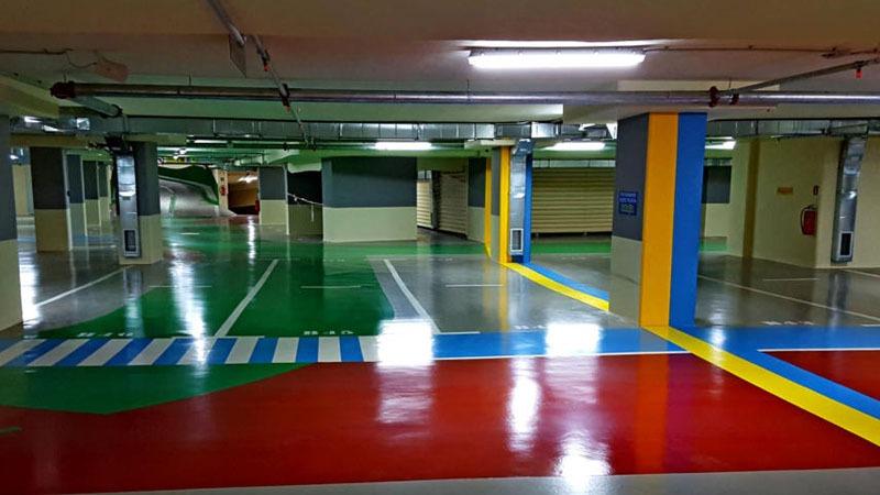 Εποξειδικό Αυτοεπιπεδούμενο Δάπεδο σε Υπόγειο Parking 7.000 m2