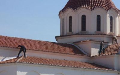 Στεγανοποίηση διαρροών κεραμοσκεπής Ιερού Ναού Υψώσεως Τιμίου Σταυρού Φερών Ν. Έβρου