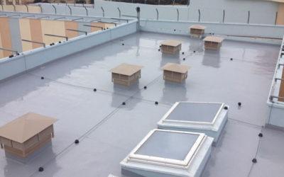 Στεγανοποίηση οροφής 2.000 τ.μ. κτιρίου Φυλακών Δράμας